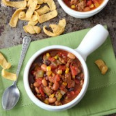 Slow Cooker Sausage and Poblano Chili Recipe - bakedbyrachel.com