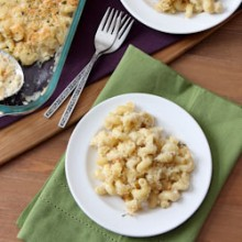 Two Cheese Macaroni Recipe - bakedbyrachel.com