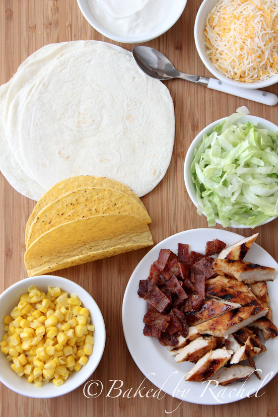 Barbecue Chicken Tacos Recipe - bakedbyrachel.com