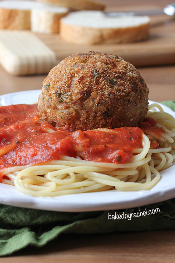 Chicken Parm Meatballs Recipe from bakedbyrachel.com