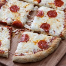 Garlic Bread Pizza Recipe - bakedbyrachel.com