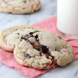 Cake Batter Funfetti Chocolate Chip Cookies
