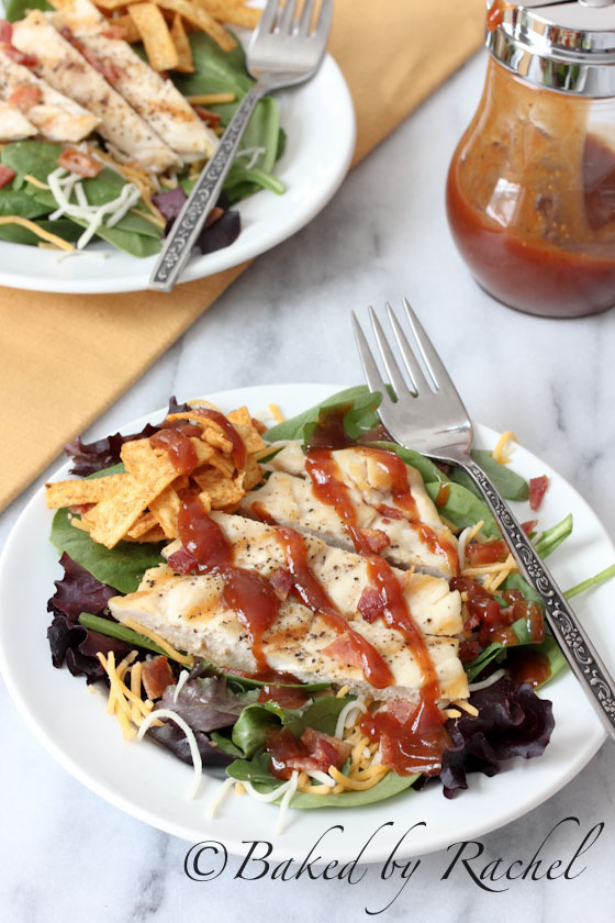 Spicy Barbecue Chicken Salad Recipe - bakedbyrachel.com