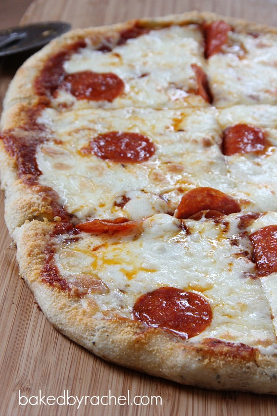 Garlic Bread Pizza Recipe from bakedbyrachel.com