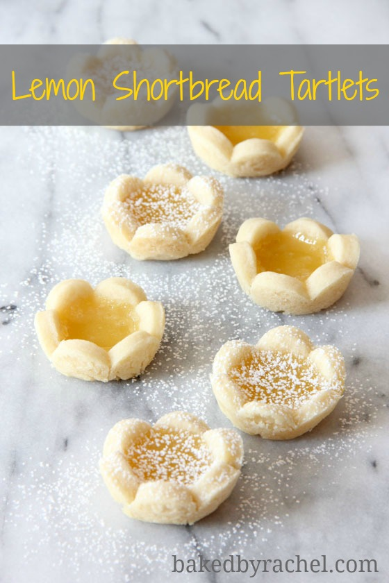 Lemon Shortbread Tartlets Recipe from bakedbyrachel.com