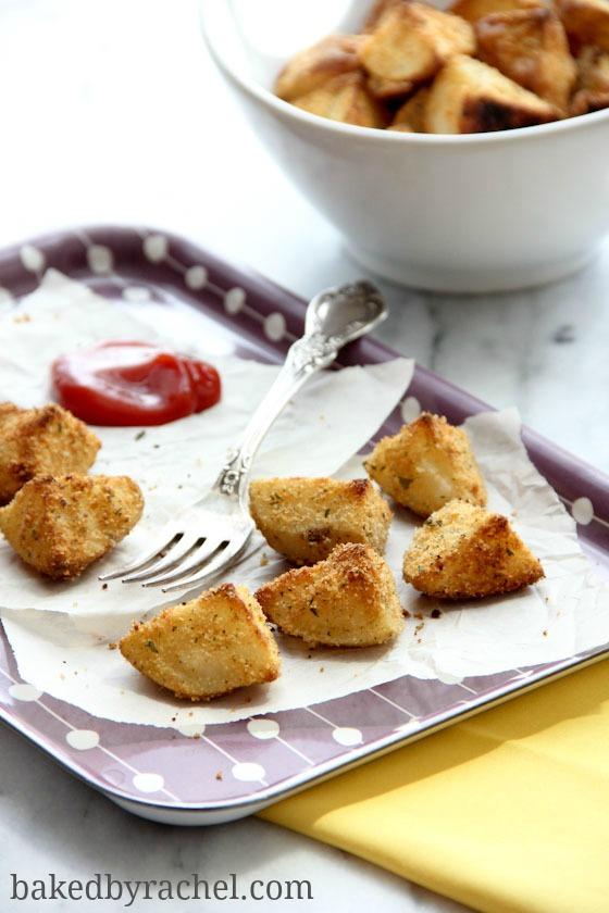 Parmesan Roasted Potatoes Recipe from bakedbyrachel.com