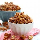 Vanilla Caramel Popcorn with Sea Salt