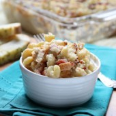 Barbecue Chicken Macaroni and Cheese Recipe from bakedbyrachel.com