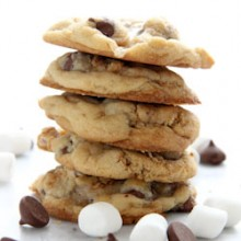Perfect S'more Cookies Recipe from bakedbyrachel.com