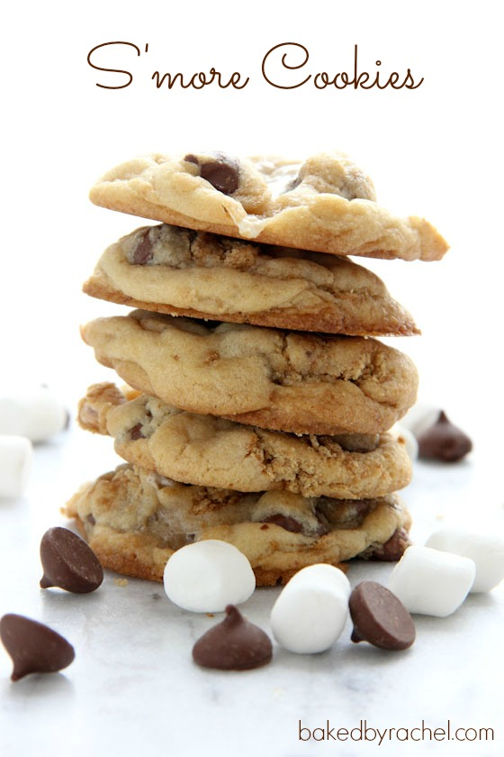 recipe for the perfect s'more cookie. A traditional summer treat ...