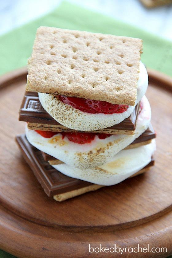 Strawberry S'mores Recipe from bakedbyrachel.com