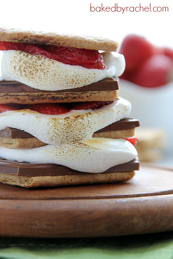 Strawberry S'mores Recipe from bakedbyrachel.com