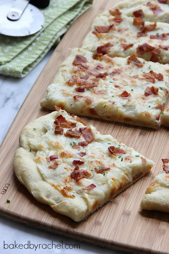Loaded Mashed Potato Pizza Recipe from bakedbyrachel.com