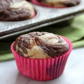 Banana Chocolate Marble Muffins