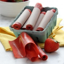 Easy Homemade Strawberry Fruit Leather Recipe from bakedbyrachel.com