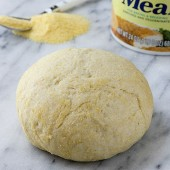 Cornmeal Pizza Dough Recipe from bakedbyrachel.com