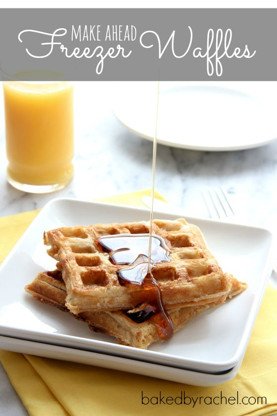 Make Ahead Freezer Waffles Recipe from bakedbyrachel.com