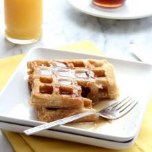 Make Ahead Freezer Waffles Recipe from bakedbyrachel.com