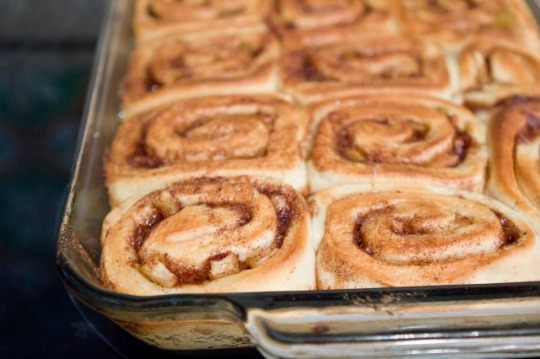 Apple Cinnamon Rolls by A Zesty Bite on bakedbyrachel.com