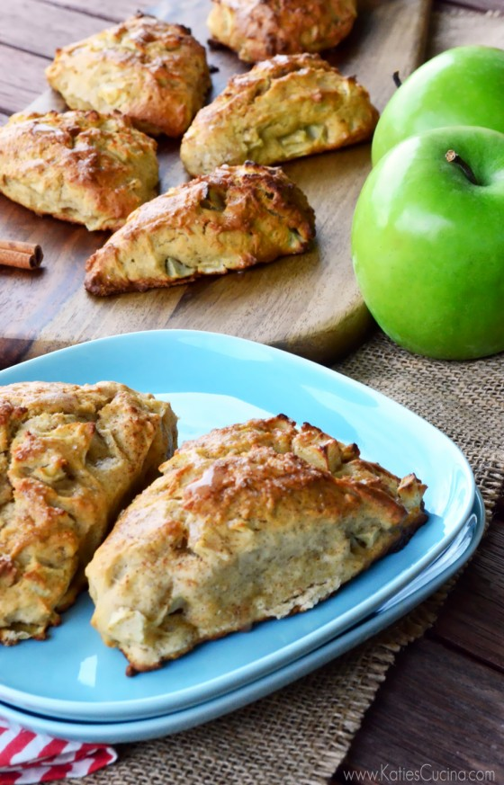 Apple Cinnamon Scones by Katie's Cucina on bakedbyrachel.com