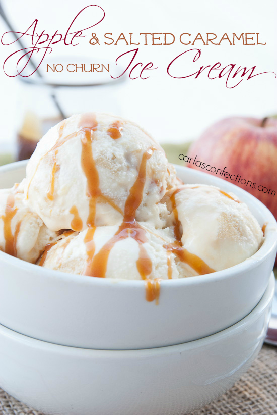 Apple Salted Caramel Ice Cream Title