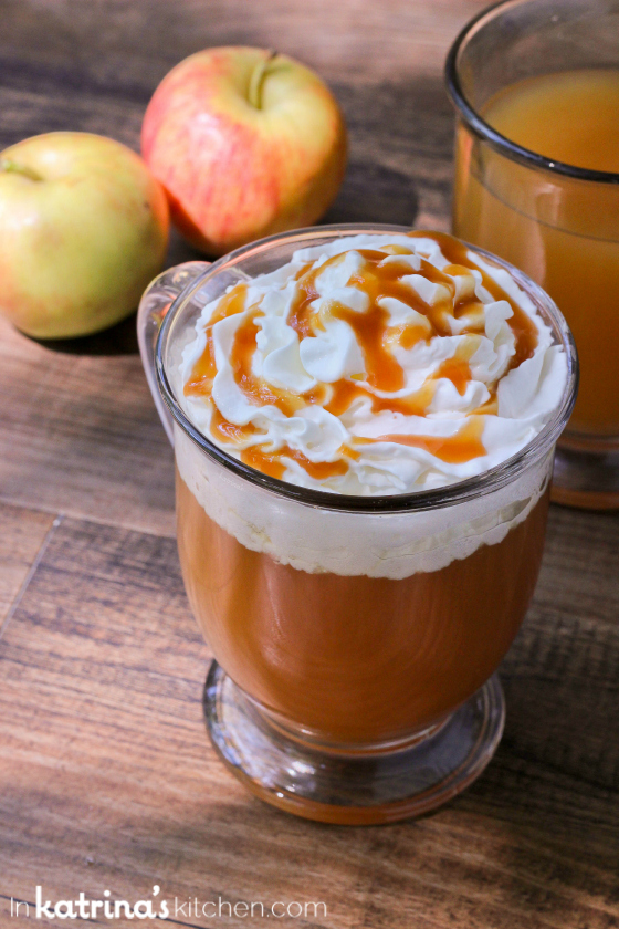 Starbucks Copycat Caramel Apple Spice by @KatrinasKitchen on www.bakedbyrachel.com