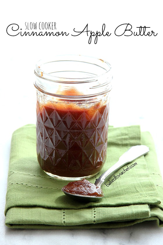 Slow Cooker Cinnamon Apple Butter | Baked by Rachel