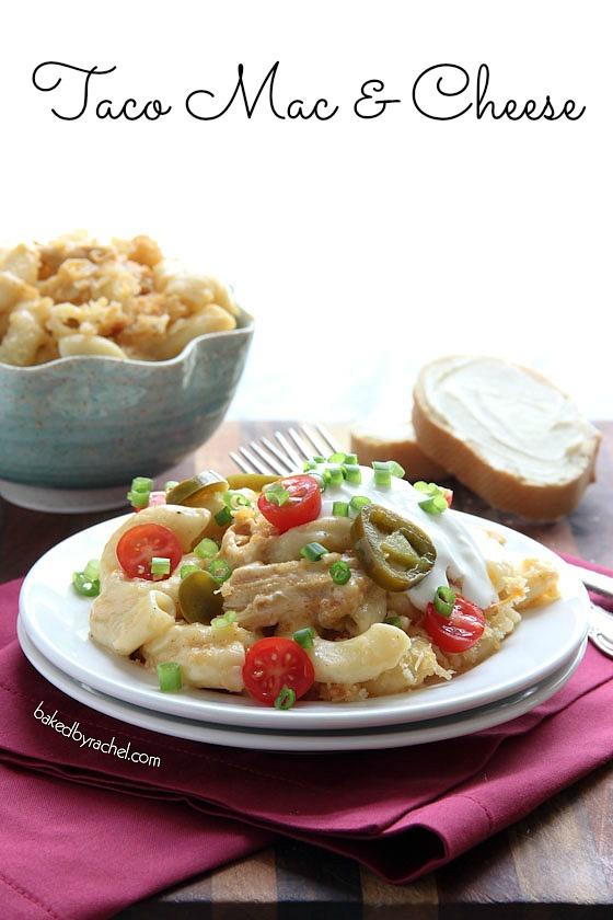 Taco Mac and Cheese Recipe from bakedbyrachel.com