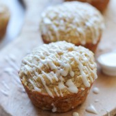 Vanilla Glazed Apple Cinnamon Muffins by Damn Delicious on bakedbyrachel.com