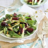 Roasted Beet and Apple Salad by Running to the Kitchen on bakedbyrachel.com