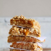 Oatmeal Caramel Apple Bar Recipe by I Am Baker on bakedbyrachel.com