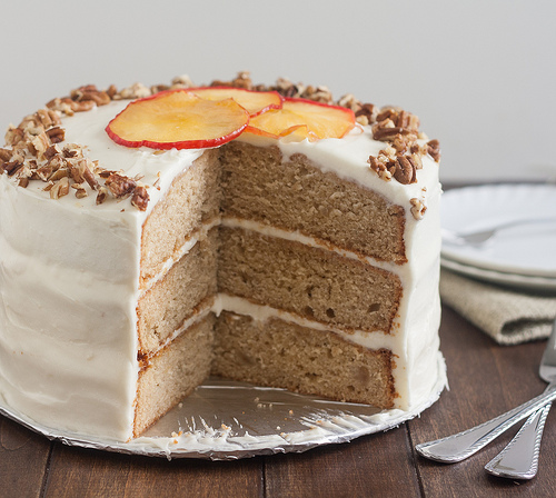 Apple-Spice Layer Cake with Goat Cheese Frosting | Baked ...
