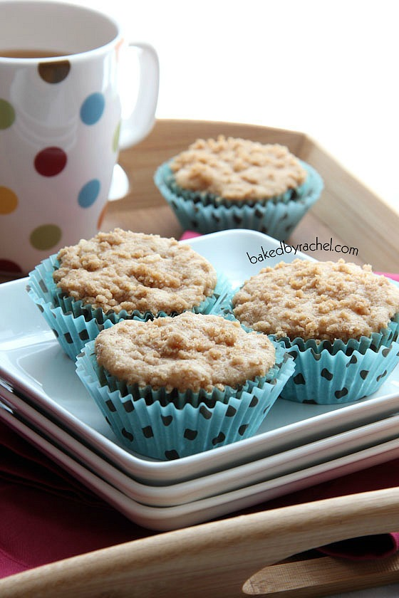 Apple Cinnamon Streusel Muffins Recipe from bakedbyrachel.com