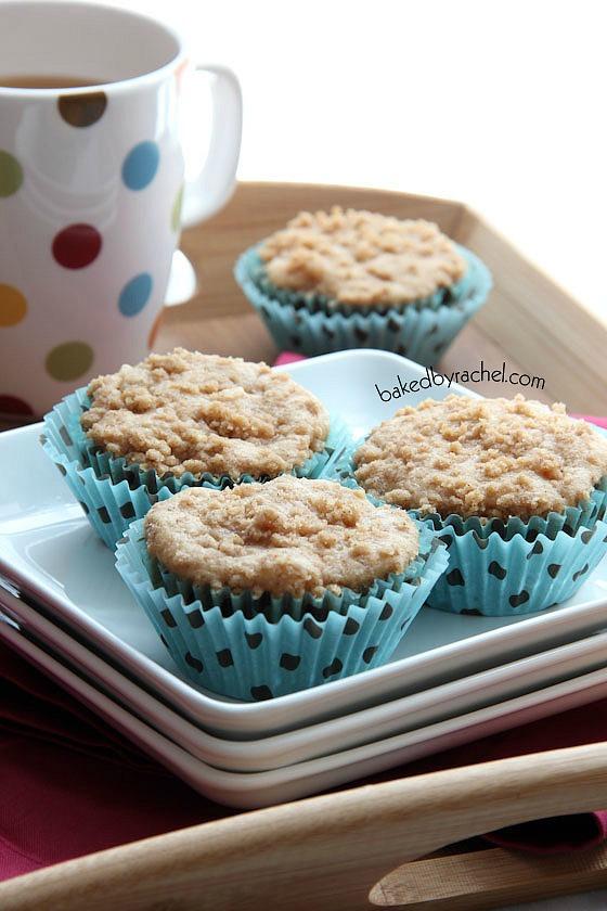 Apple Cinnamon Streusel Muffins Recipe from bakedbyrachel.com