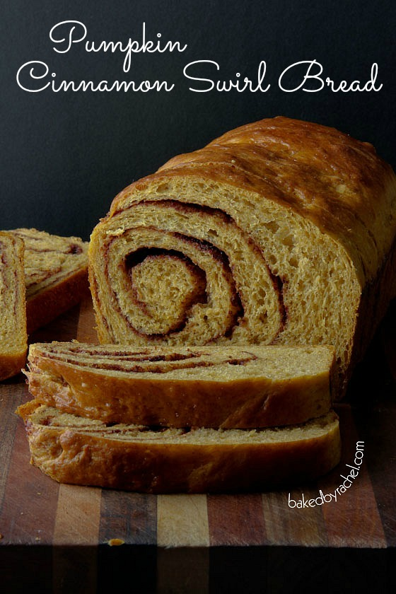 Pumpkin Cinnamon Swirl Bread Recipe from bakedbyrachel.com