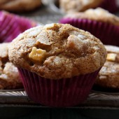 Apple Pumpkin Gingerbread Muffin Recipe from bakedbyrachel.com