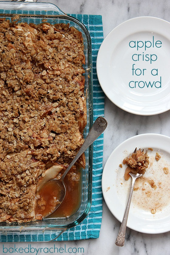 67 Recipes for Thanksgiving and the Day After: Apple Crisp For A Crowd Recipe from bakedbyrachel.com