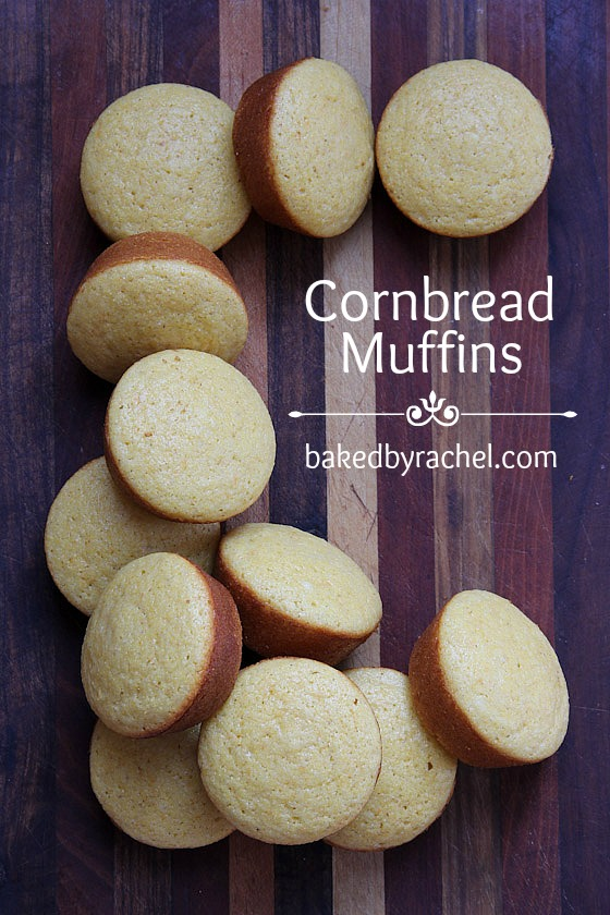 Cornbread Muffin Recipe from bakedbyrachel.com