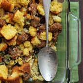 Cornbread and Sausage Stuffing Recipe from bakedbyrachel.com