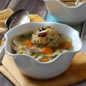Slow Cooker Turkey and Stuffing Dumpling Soup Recipe from bakedbyrachel.com A fun and tasty use of leftover Thanksgiving turkey.