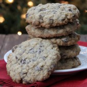 Oatmeal Chocolate Chip Cookies from bakedbyrachel.com
