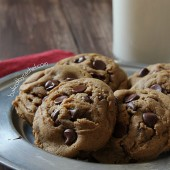 The ultimate soft batch gingerbread chocolate chip cookie recipe from bakedbyrachel.com A must make holiday cookie!