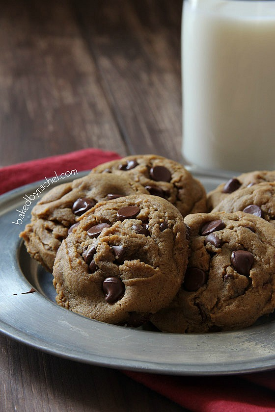 Gingerbread Chocolate Chip Cookies | Baked by Rachel