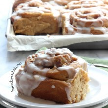 Overnight Apple Gingerbread Cinnamon Rolls  Recipe from bakedbyrachel.com The perfect holiday breakfast!