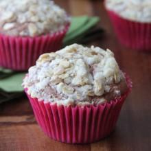 Chocolate Banana Streusel Muffins Recipe from bakedbyrachel.com