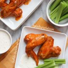 Baked Buffalo Chicken Wings Recipe from bakedbyrachel.com