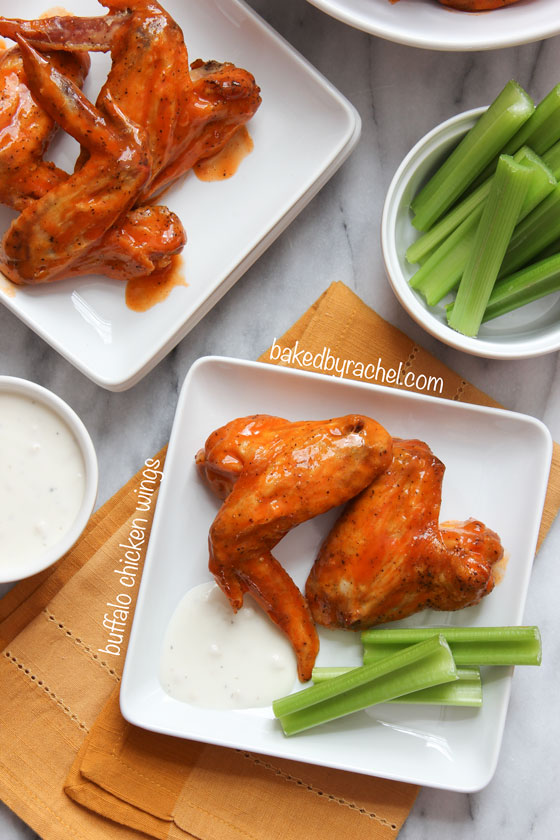 Baked Buffalo Chicken Wings Recipe from bakedbyrachel.com