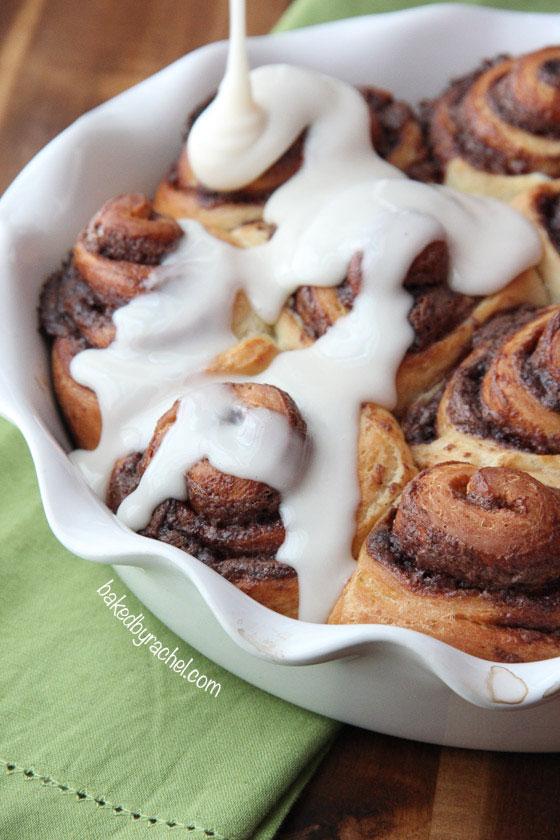 Fluffy Chocolate Cinnamon Rolls Recipe from @bakedbyrachel