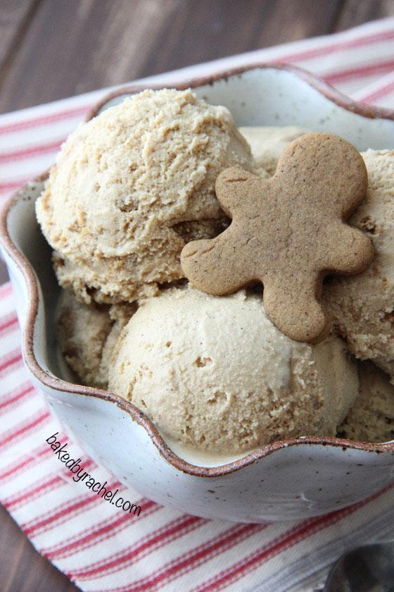 Gingerbread Cookie Crunch Ice Cream Recipe from @bakedbyrachel