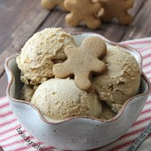 Gingerbread Cookie Crunch Ice Cream Recipe from bakedbyrachel.com